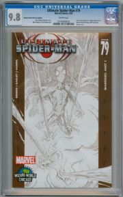Ultimate Spider-man #79 Wizard World Sketch Variant CGC 9.8 Marvel comic book